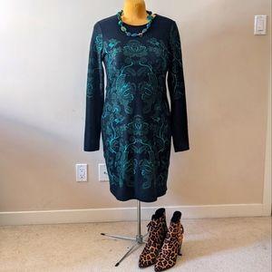 GUC Long Tall Sally Knit Floral Pattern Dress